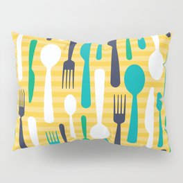 Pattern of spoons, forks and knifes Pillow Sham