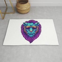 Psychedelic Lion Rug