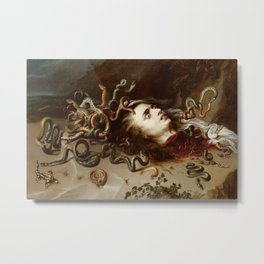 Peter Paul Rubens - The Head Of Medusa - Baroque Painting Metal Print