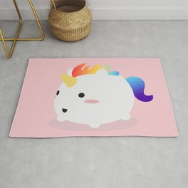 Kawaii rainbow fattycorn Rug