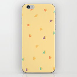 Colorful triangles pattern iPhone Skin