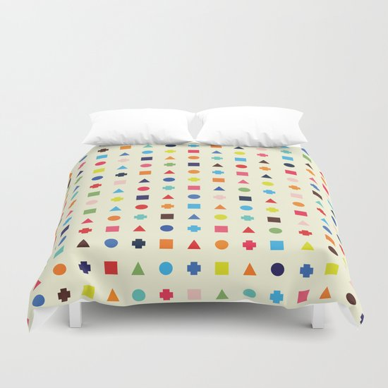 Dot Triangle Square Plus Repeat Duvet Cover