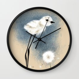 Snowy Stilted Plover Wall Clock