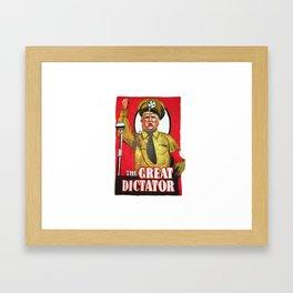 Donald Trump The Great Dictator Framed Art Print