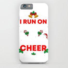 Christmas Run I Run On Coffee And Christmas Cheer Santa T-Shirt iPhone Case