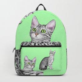 Egyptian Mau (Green Background) Backpack