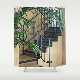 Secret Stair Steps to a Romantic Hideaway Shower Curtain
