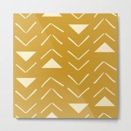 Mud Cloth Vector in Gold Metal Print