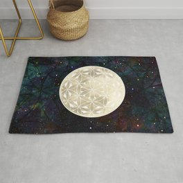 The Flower of Life Moon 2 Rug