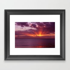 Let the new day lift your spirits to the sky Framed Art Print
