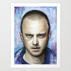 Jesse Pinkman Portrait Art Print