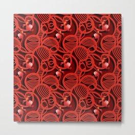 Cherry Tomato Hearts Metal Print