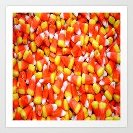 Autumn Candy Corn Art Print