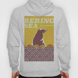 Bering Sea ' into adventure' 1970s style travel poster Hoody
