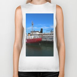 Riverboat Legacy and Fireship Columbia on Columbia River Biker Tank