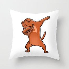 Dabbing Dogue De Bordeaux Dog Dab Dance Throw Pillow
