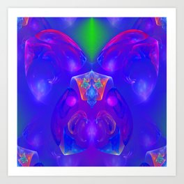 Blue is looking for you ... Art Print