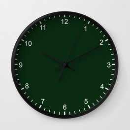 Simply Tree Green Color Wall Clock