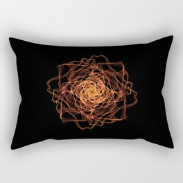 Fire Rose Rectangular Pillow