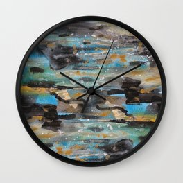 muddy water Wall Clock