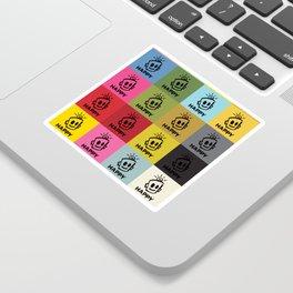 HAPPY SQUARES Sticker
