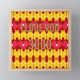 Iron Man Pattern Framed Mini Art Print