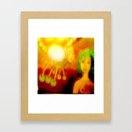 The lady and the spider Framed Art Print