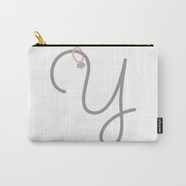 Y Initial with Stitch Marker Carry-All Pouch