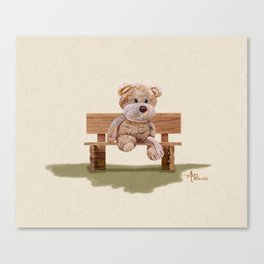 Cuddly At The Park Canvas Print