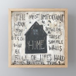 Home between these walls Framed Mini Art Print