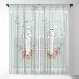 Leo Zodiac Series Sheer Curtain