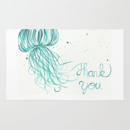 Thank You Jellyfish Painting Rug
