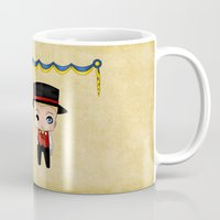 swedish Mugs featuring Swedish Chibis by artwaste