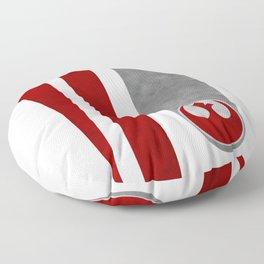 Poe's helmet patern Floor Pillow