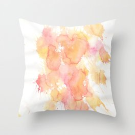 Pastel Watercolor Painting Throw Pillow