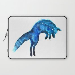Space Fox | Fox Constellation | Leaping Fox | Double Exposure Fox Laptop Sleeve