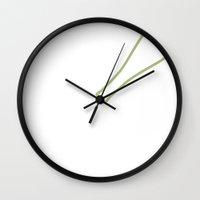sin city Wall Clocks featuring Sin City by Chelsea Dianne Lott