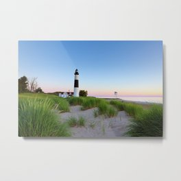 Big Sable Point Lighthouse - Ludington Michigan Metal Print