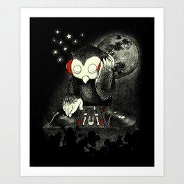 Owl the Night Art Print