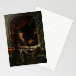 "Gerard Dou ""Sef-portrait"" Stationery Cards"