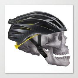 Cyclist Skull Canvas Print