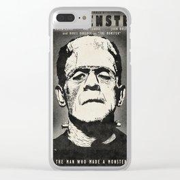 Frankenstein (B&W) Clear iPhone Case