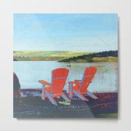 adirondack and muskoka lakeview chairs Metal Print