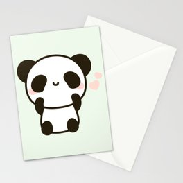 Cute panda Stationery Cards