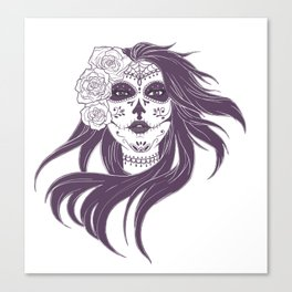 Day of the Dead Woman Canvas Print
