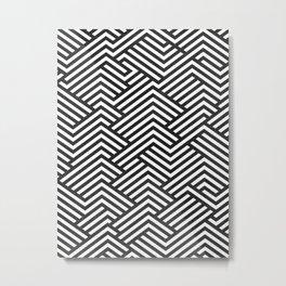 Bw Labyrinth Metal Print