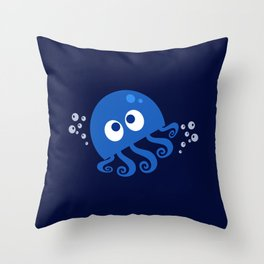 Bubbly Octopus Throw Pillow