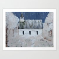 Rustic Church Art Print