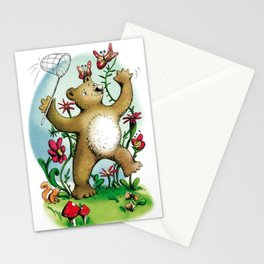 Bear and butterfly Stationery Cards