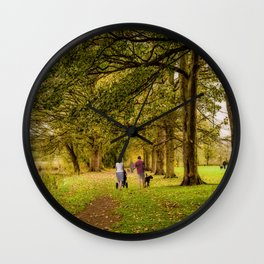 The Dog Walkers Wall Clock